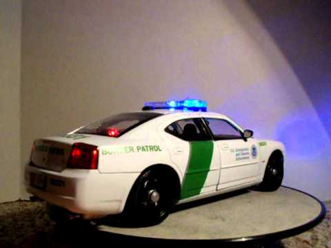 Dodge Ice Charger >> 1/18 US Immigration and Customs Enforcement Border Patrol Dodge Charger Police Car W/ Lights ...