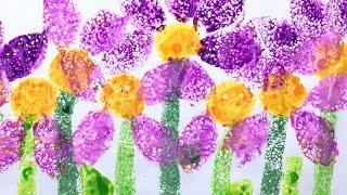 Sponge Painting - simple art ideas for kids