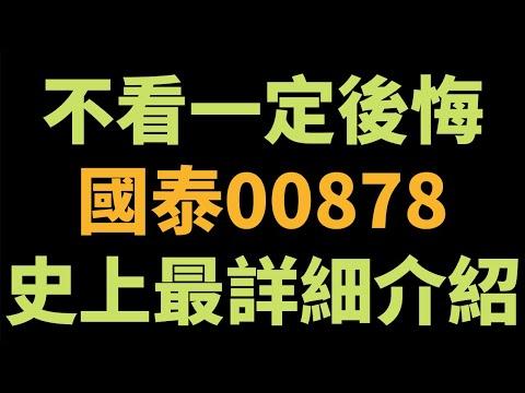 00878/00878史上最詳細介紹/不看一定後悔!!/國泰永續高股息ETF/20210416