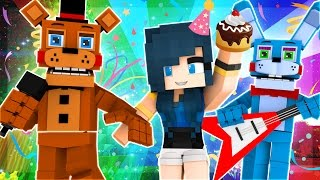 Minecraft Babies - FUNNEH'S BIRTHDAY PARTY AT FNAF! (Minecraft Roleplay)