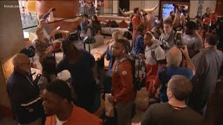 Texas Longhorns arrive in San Antonio for Valero Alamo Bowl | KVUE