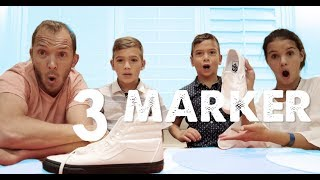 3 MARKER SHOE CHALLENGE   Shoe Makeover with Sharpies!
