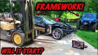 Rebuilding A Wrecked 2017 Corvette Z06 Part 2