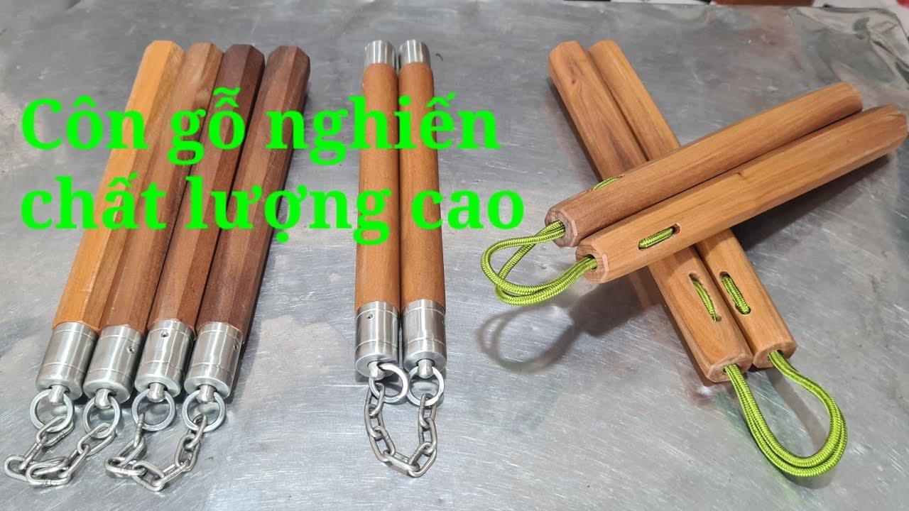 3 loại côn gỗ nghiến Toankungfu