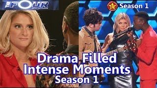 The Four Season 1 Intense Dramatic Moments (Security had to be called in one) Jason  Zhavia Evvie