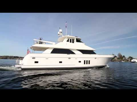 Ocean Alexander 78' seen on the Montlake Cut. Skylounge for sale