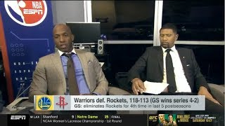 Jalen Rose REACT to Warriors def. Rockets to win series 4-2 | NBA Playoffs 2019
