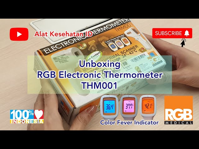 EMIINDO - Unboxing RGB Electronic Thermometer THM001