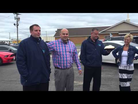 General Sales Manager gets pie in the face at Bob Swope Ford