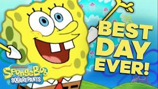 SpongeBob's Best Day EVER 🎉 in 5 Minutes! | #SpongeBobSaturdays