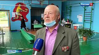 Активно показали себя во время голосования по поправкам и в районах Омской области