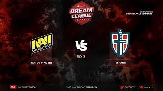 🤠 Navi в финале [RU] Natus Vincere vs Espada   Bo3   DreamLeague Season 10 by @Tekcac