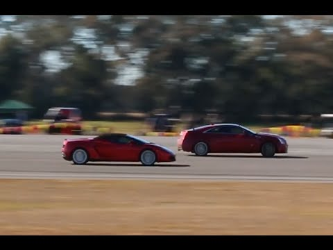 Lamborghini Gallardo gets WALKED by a Cadillac CTS-V at WannaGOFAST Ocala Florida 2016 Jumbolair