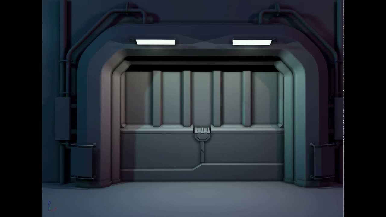Space Ship Door Test Youtube