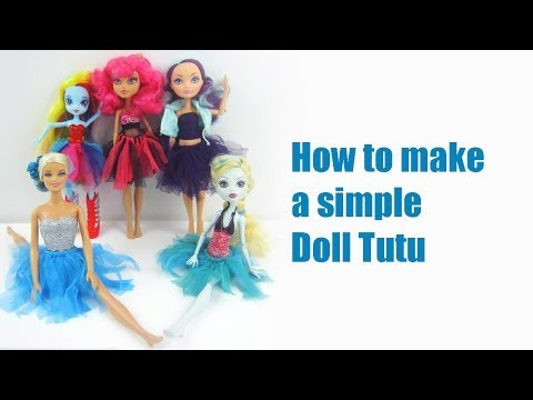 How to make a tutu or ballerina skirt for your doll