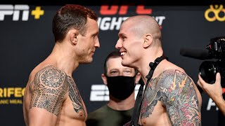 UFC Vegas 16: Weigh-in Faceoffs