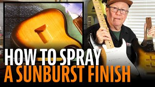 Watch the Trade Secrets Video, How to mix colors to match a Fender 2-tone sunburst