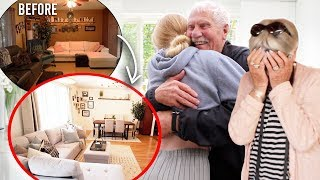 Surprising My Grandparents Transforming Their Old House to New!!