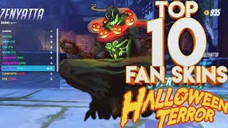 TOP 10 OVERWATCH HALLOWEEN FAN SKINS!
