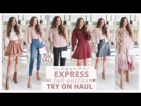 Video: HUGE EXPRESS FALL TRY ON HAUL 🍂 The Cutest Fall Outfit Ideas from Casual to Dressy