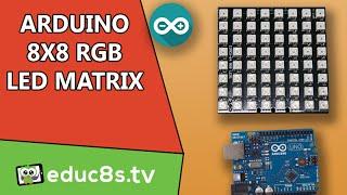 Arduino library test program on 8x32 Matrix LED module