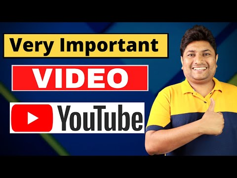 Very Important Video for All YouTubers!!! 🤔