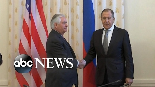 Russian foreign minister scolds Rex Tillerson over Syria