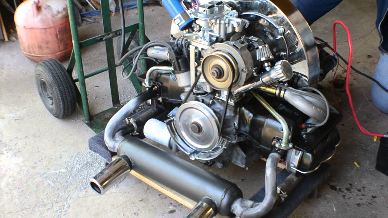 1776cc AirCooled VW Motor with straight cut gears and big ...