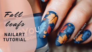 Fall leafs Nailart Tutorial