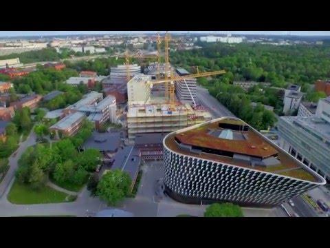 Följ med på bygget av Biomedicum på Campus Solna