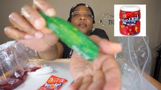 Koolickles Kool-Aid Pickles Taste Test!! Yummy!!