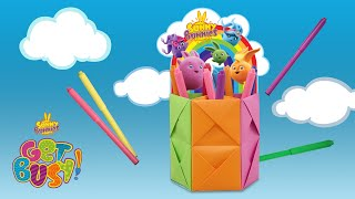 SUNNY BUNNIES - Pencil Holder | GET BUSY COMPILATION | Cartoons for Children