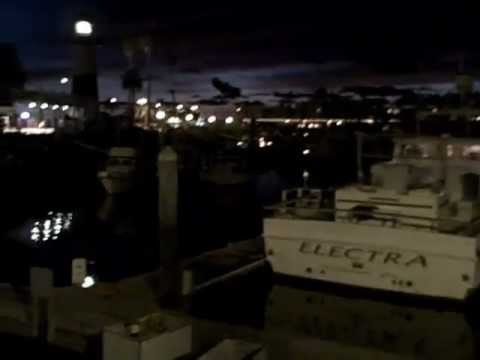 Oceanside Harbor, South Side at Night