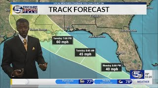 Potential Tropical Cyclone 7 Heads for Gulf