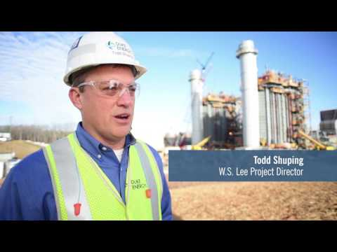 W.S. Lee combined-cycle natural gas plant construction project