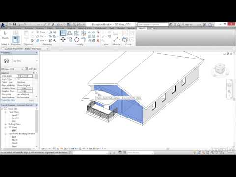 Revit 2017: Essential Training for Architecture (Imperial) | Attaching walls to roofs