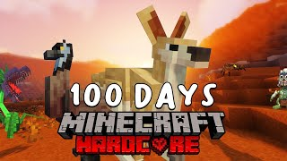 I Survived 100 Days In Australia On Minecraft... Here's What Happened