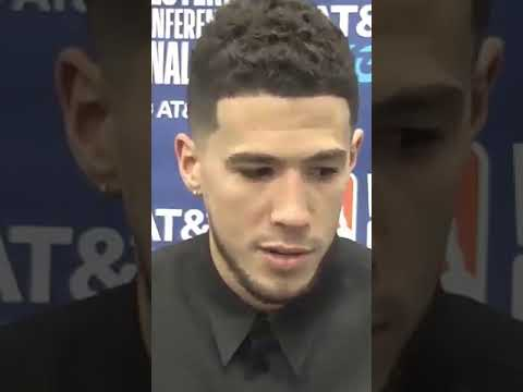Devin Booker on how Kobe and CP3 helped him in Game 1 #Shorts