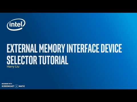 External Memory Interface Device Selector Tutorial
