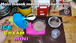 "Tiny cooking ""ICE CREAM MINI"" || Main masak masakan beneran ""ES KRIM MINI"""