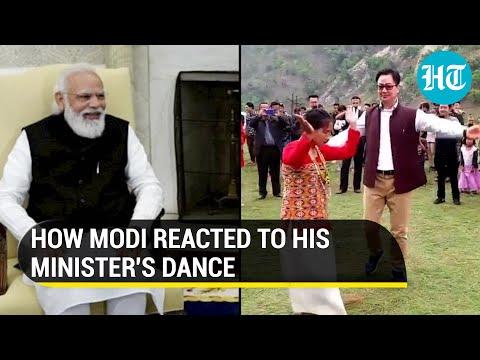 PM Modi's vibrant reaction to Law Minister Kiren Rijiju's dance moves