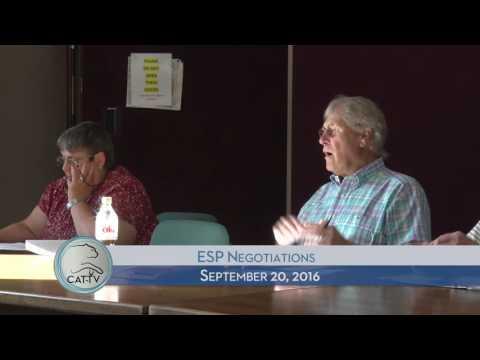 ESP Negotiations - 9/20/16