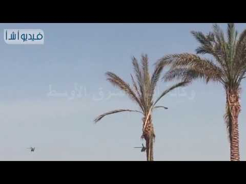 شاهد الطائرات بدون طيار والأباتشي تحلق لتأمين القمة العربية بالبحر الميت