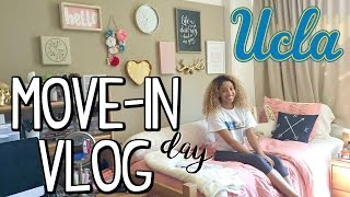 UCLA MOVE IN DAY VLOG! (First Time Moving Out to College & Unpacking)