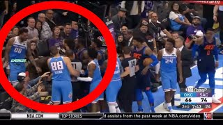 Willie Cauley-Stein Gets MANHANDLED By Steven Adams For Slapping Russel Westbrook! Thunder vs Kings