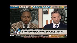 """Stephen A. Smith """"SHOCKED"""" Warriors sweep Blazers 119-117 in West Finals; Steph/Green triple-double"""