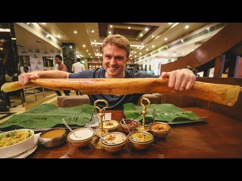 Hyderabad's BIGGEST DOSA IN INDIA! | South Indian Food Challenge
