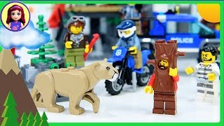 Lego City Mountain Police Headquarters Build the Cops & Robbers Vehicles Review Kids Toys