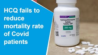 WHO discontinues hydroxychloroquine trial for COVID-19 tre..