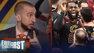 Nick and Cris react to LeBron's clutch shot in Game 3 vs Toronto | NBA | FIRST THINGS FIRST